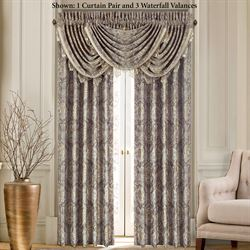 Provence Scroll Wide Tailored Curtain Pair Beige 100 x 84