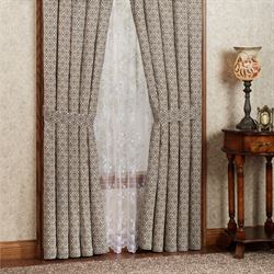 Stella Tailored Curtain Pair Taupe 84 x 84