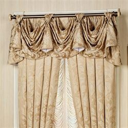 Regent Gold Patriot Valance Antique Gold 72 x 17