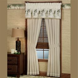 Fiji Tailored Curtain Pair Light Taupe 82 x 84