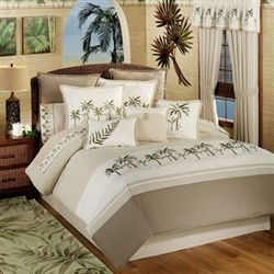 Fiji 4 pc Comforter Set Light Taupe