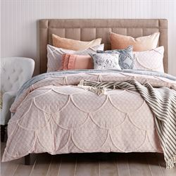 Chenille Scallop Mini Comforter Set Pink
