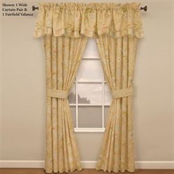 Cape Coral Tailored Wide Curtain Pair Peach 100 x 84
