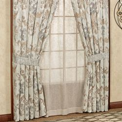 Seville Wide Curtain Pair Platinum Gray 100 x 84