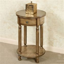 Esmay Round Accent Table Latte