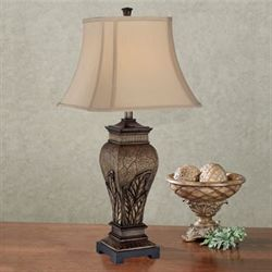 Raya Table Lamp Aged Silver
