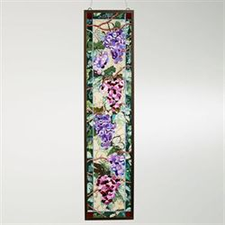 Fruit of the Vine Grapes Window Art Panel Multi Jewel