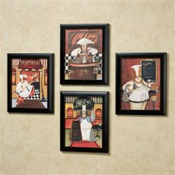 Sonoma Chef Framed Wall Art Multi Warm Set of Four