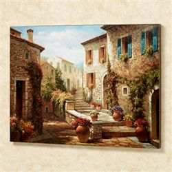 Hilltop Village Wall Art Multi Warm