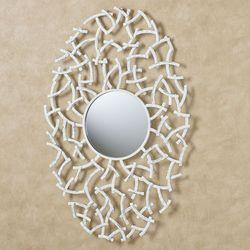 Bodhi Mirrored Wall Art Whitewash