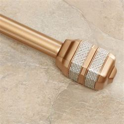 Dakota Decorative Curtain Rod Set Gold