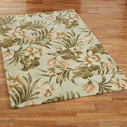 Tropical Serenity Rectangle Rug Seafoam