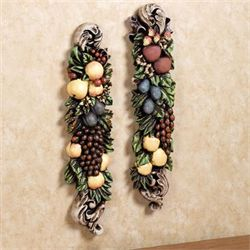 Tuscan Fruit Wall Plaques Set  Set of Two