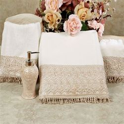 Bianca Bath Towel Set Champagne Bath Hand Fingertip
