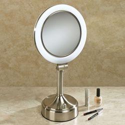 Surround Lighted Vanity Mirror Satin Nickel