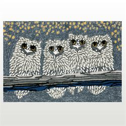 Up Owl Night Accent Rug Gray 26 x 4