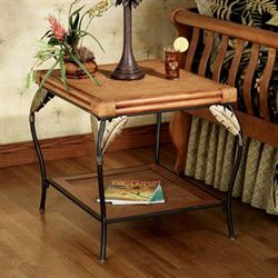 Banana Leaf End Table