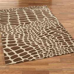 Out of the Savannah Rectangle Rug Brown