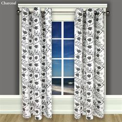 Garden Imprint I Grommet Curtain Panel