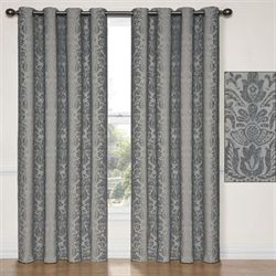 Nadya Grommet Curtain Panel Charcoal