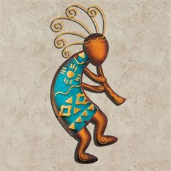 Kokopelli Flutist Wall Art Brown