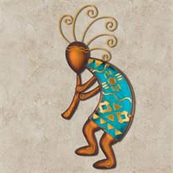Kokopelli Dancer Wall Art Brown