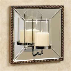 Nathanial Mirrored Wall Sconce Antique Gold