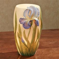 Bearded Iris Accent Lamp Periwinkle
