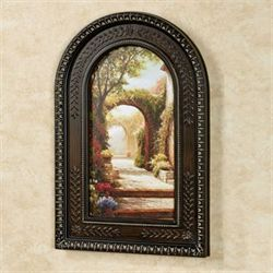 Pomeriggio Arched Framed Wall Art Multi Warm