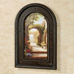 Pomeriggio Arched Framed Wall Art Multi Warm