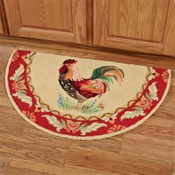 Gallus Waltz Rooster Slice Rug Multi Warm Slice