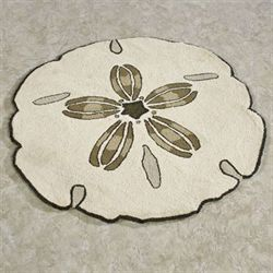Sand Dollar Round Rug Light Cream 3 Round