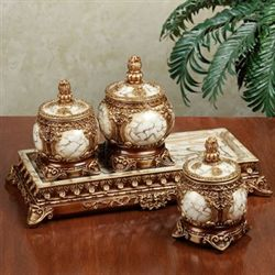 Selina Trinket Jars with Tray Set