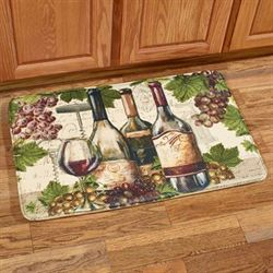 Botanical Wine Memory Foam Rectangle Mat Multi Jewel 35 x 23