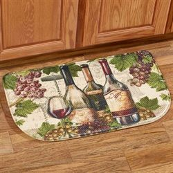 Botanical Wine Memory Foam Slice Mat Multi Jewel 30 x 18