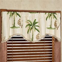 Tropica Shaped Valance Cream 50 x 18