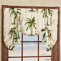 Tropica Tie Up Valance Cream 52 x 30