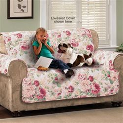 English Floral Furniture Protector Cover Tea Rose Chair