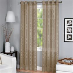 Latique Sheer Grommet Curtain Panel