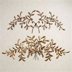 Leaf and Berry Metal Wall Sculpture