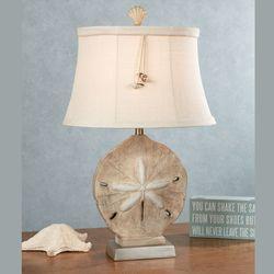 Kalea Sand Dollar Coastal Table Lamp With CFL Bulb