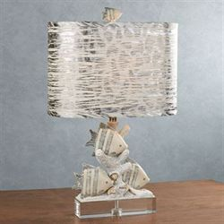 Fish in the Sea Table Lamp Navy