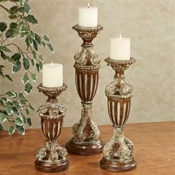 Grande Allure Candleholders Light Bronze Set of Three