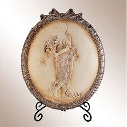 Dimitria Cameo Charger Plate with Stand Ivory Taupe