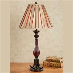 Norithon Table Lamp Burgundy