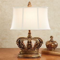 Crown Table Lamp Old World Gold