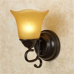 Valencia LED Glass Wall Sconce Amber