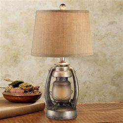 Sherlock Lantern Table Lamp Aged Gold