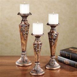 Carina Candleholder Set Gold/Bronze Set of Three