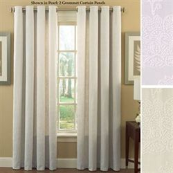 Matelasse Grommet Curtain Panel